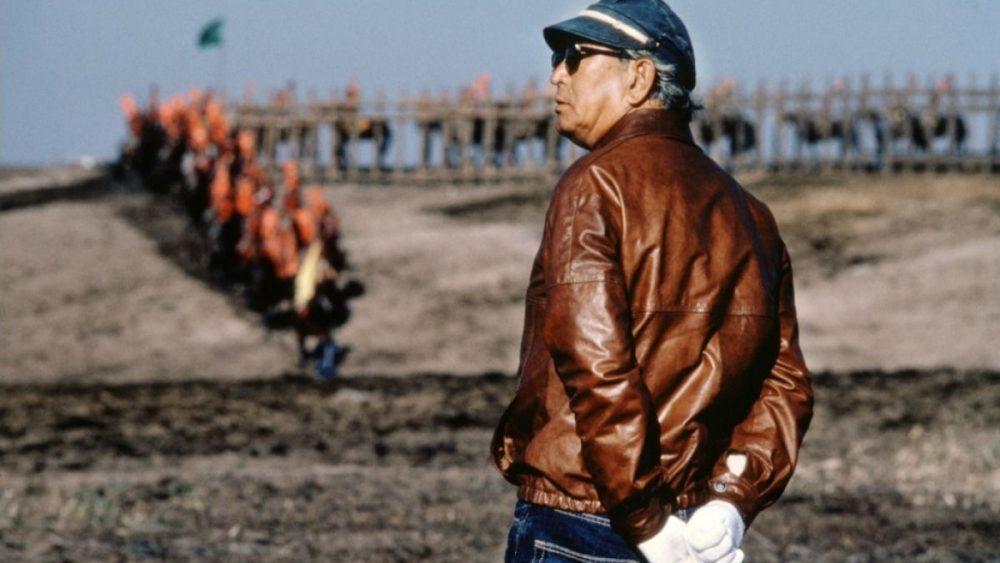 Akira Kurosawa op de set van Kagemusha